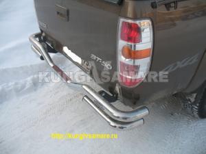 Задний бампер для Mazda BT-50 (Нержавеющая сталь)