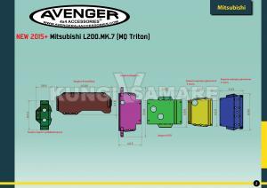 Схема расположения защиты для Mitsubishi L200 MK.7